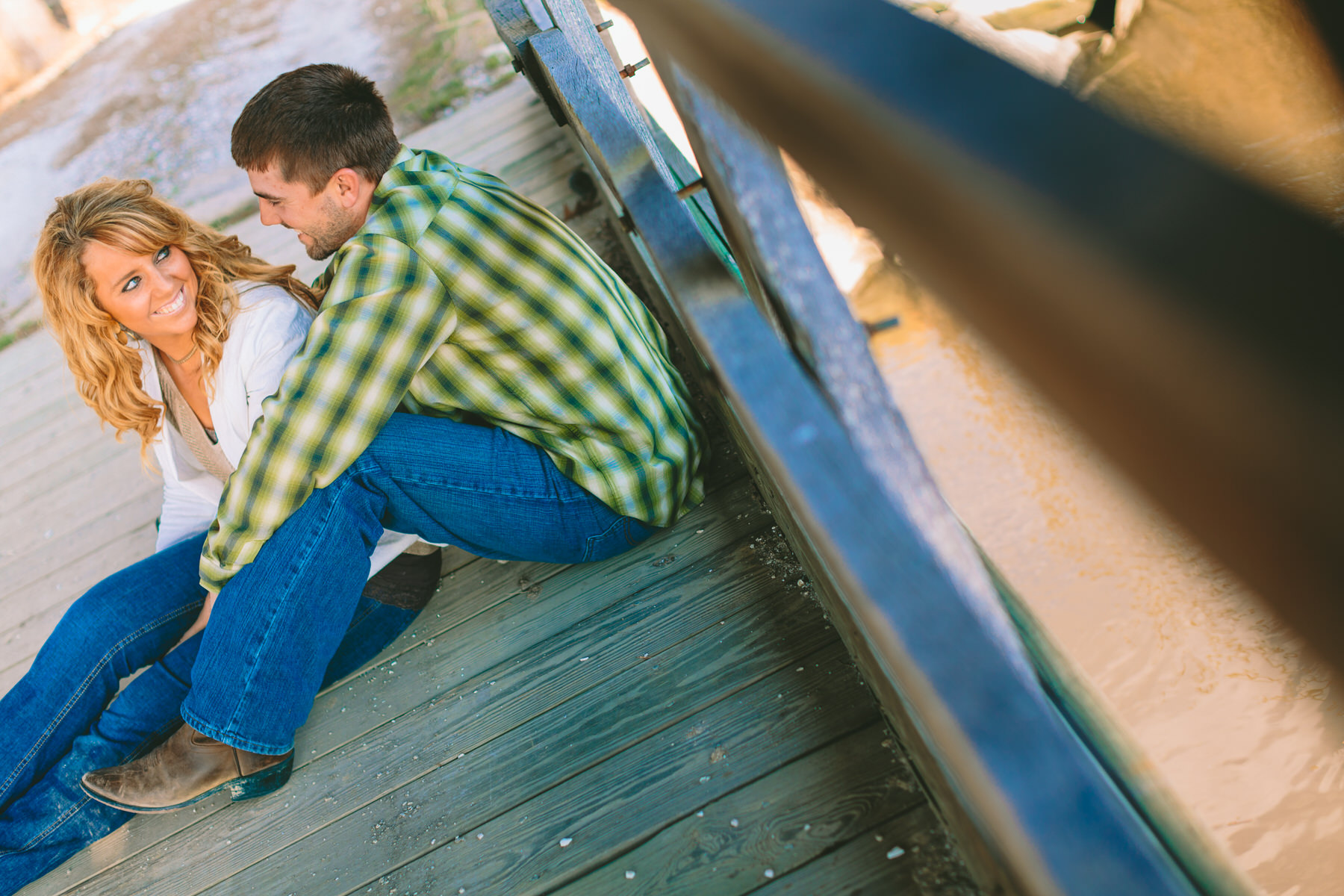 covered bridge engagement in vienna maryland ranch by Washington DC Wedding Photographer Adam Mason