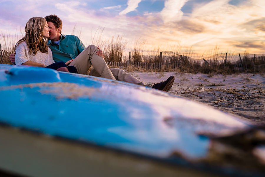 lewes engagement session on the beach at lewes yacht club