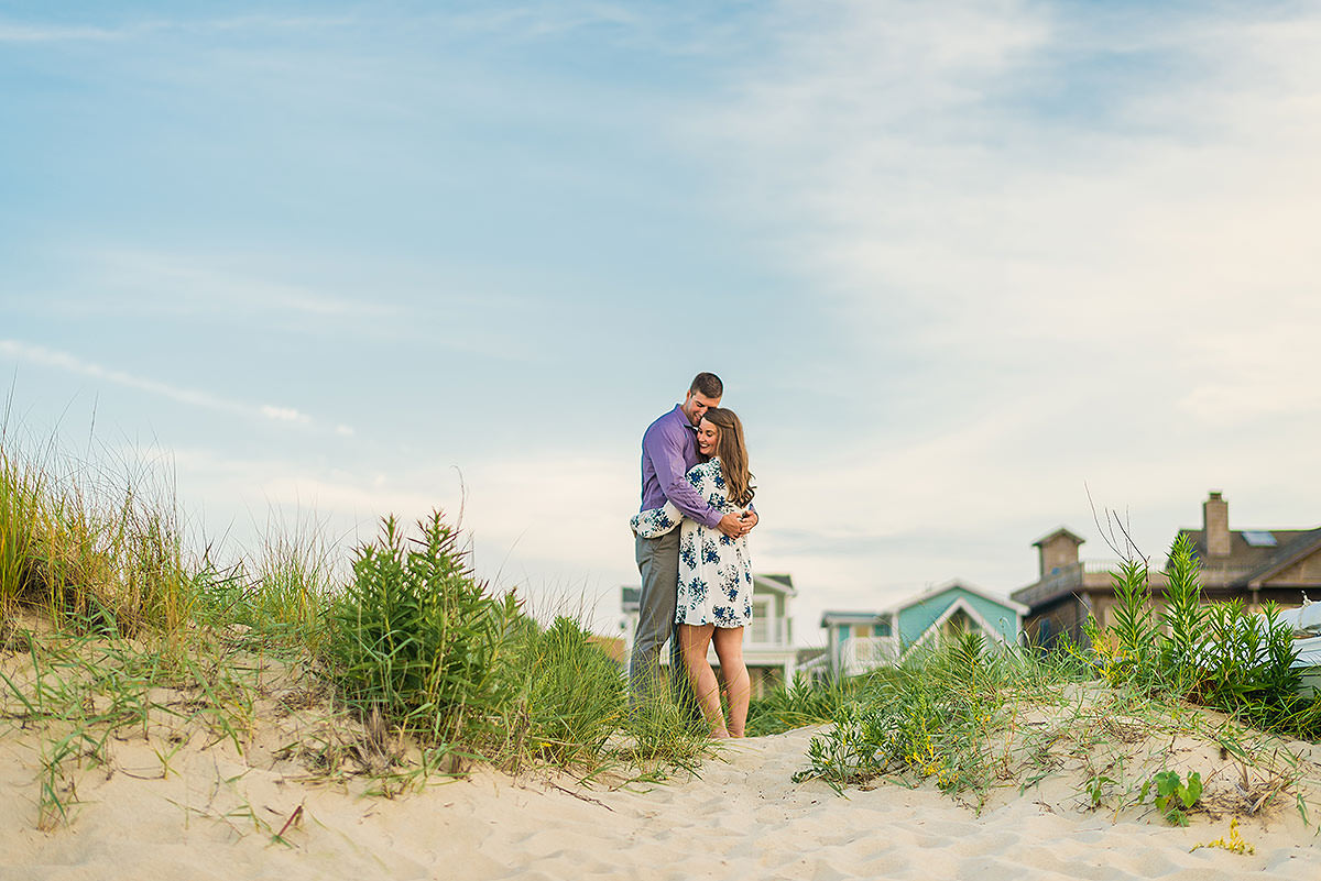 colorful beach engagement session in Historic Lewes Delaware by Washington DC Wedding Photographer Adam Mason