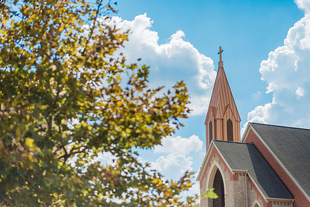 st. theresa catholic church wedding by Virginia Wedding Photographer Adam Mason