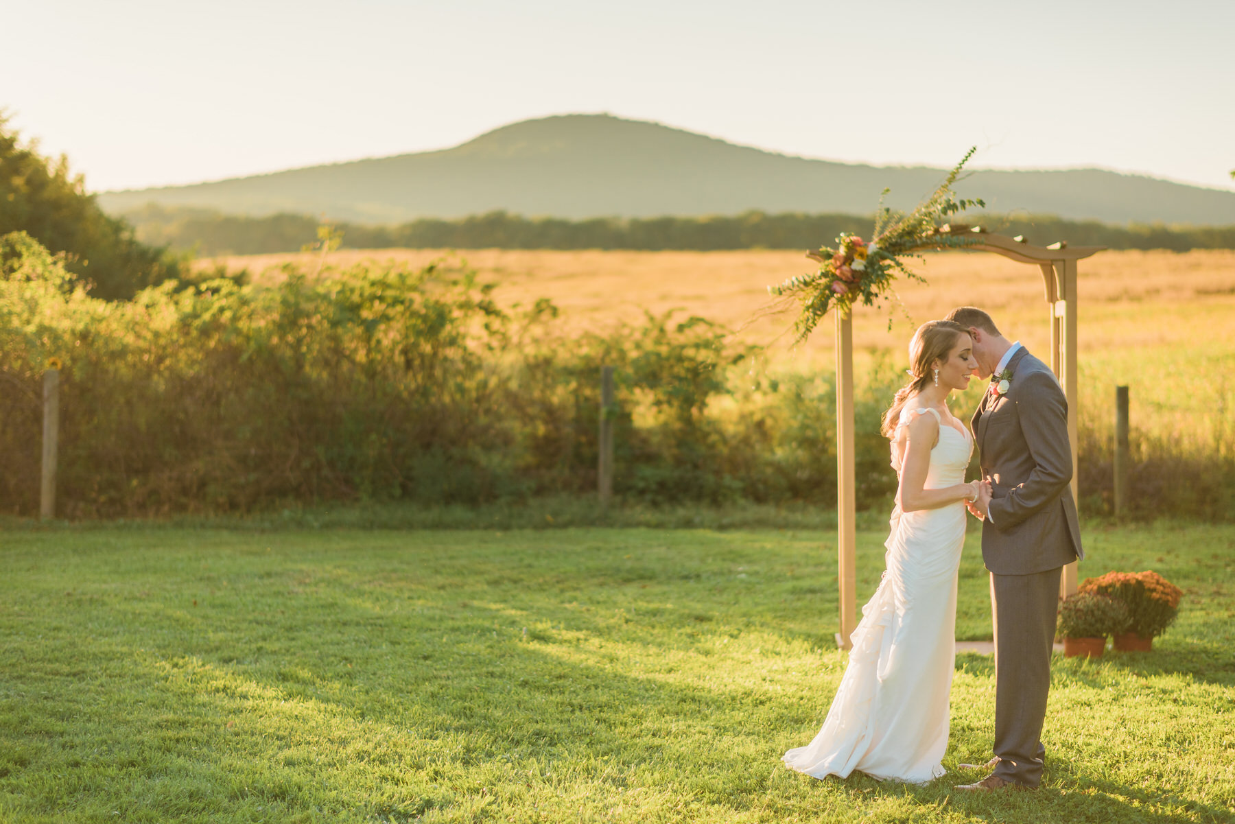 The bride and groom at The Comus Inn at Sugarloaf Mountain by Washington DC Wedding Photographer Adam Mason
