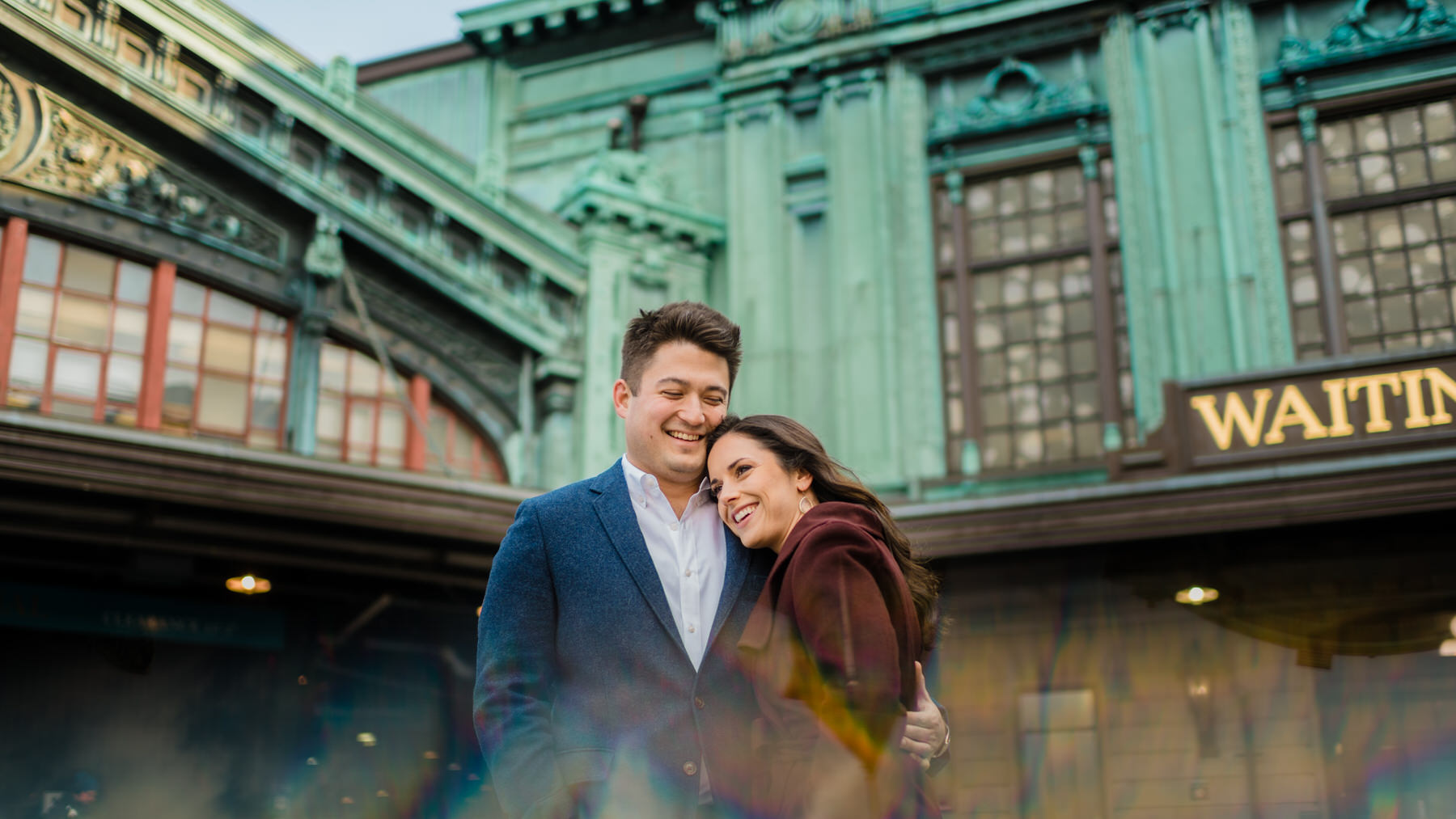 modern and creative nyc engagement photos