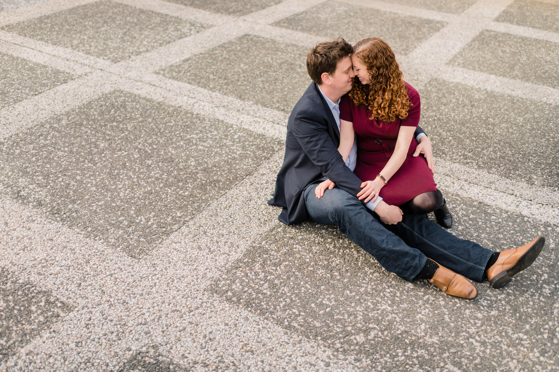 what to wear for engagement photos in the winter by Washington DC Wedding Photographer Adam Mason