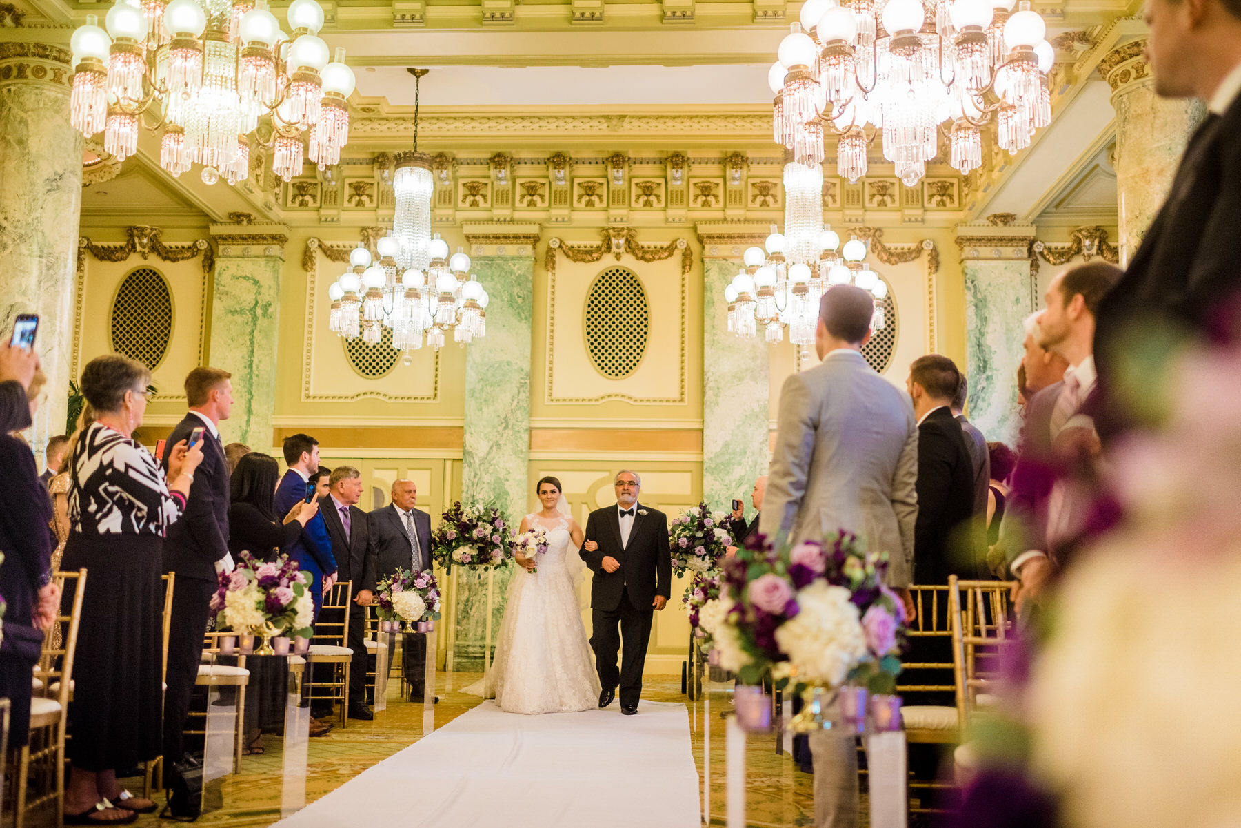 Willard InterContinental Wedding ceremony by Washington DC Wedding Photographer Adam Mason