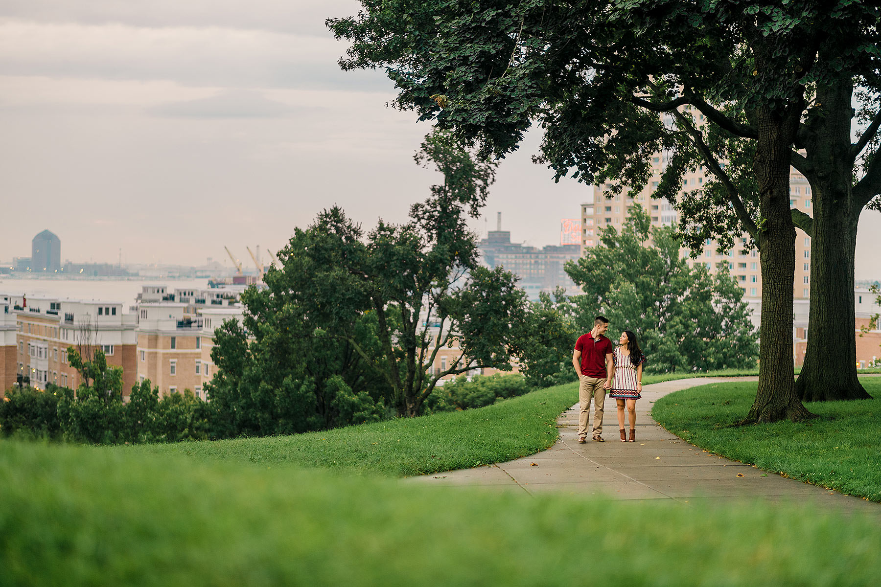romantic and cute baltimore engagement photo locations by Washington DC Wedding Photographer Adam Mason
