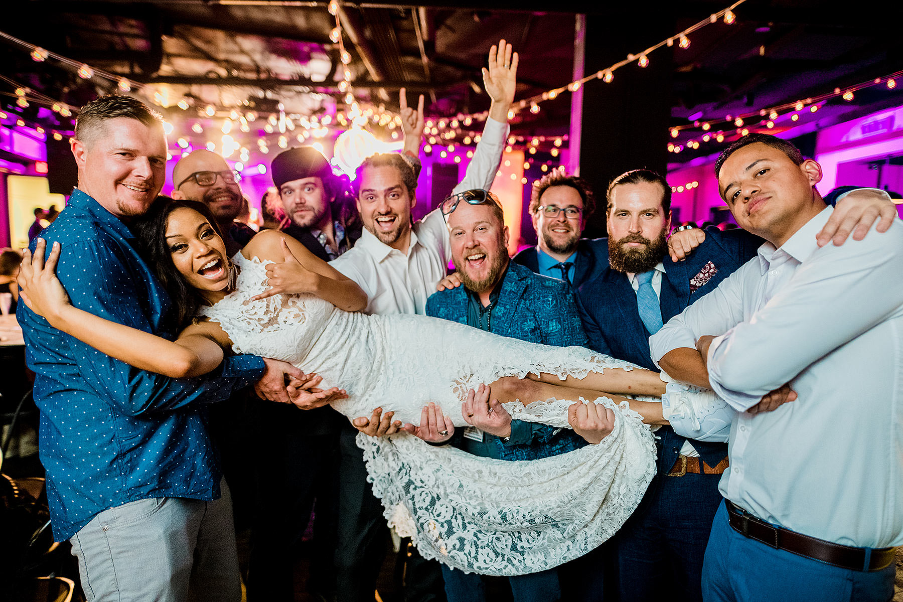 funny nontraditional wedding party photos by Washington DC Wedding Photographer Adam Mason