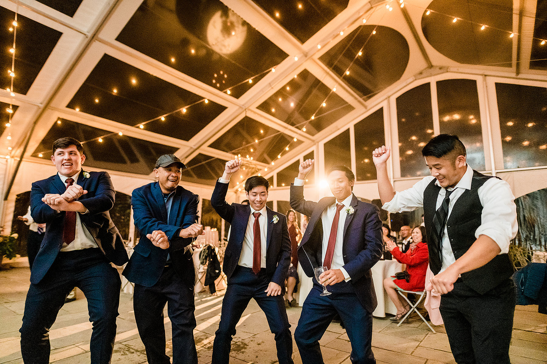 gangnam style dance at wedding by Washington DC Wedding Photographer Adam Mason