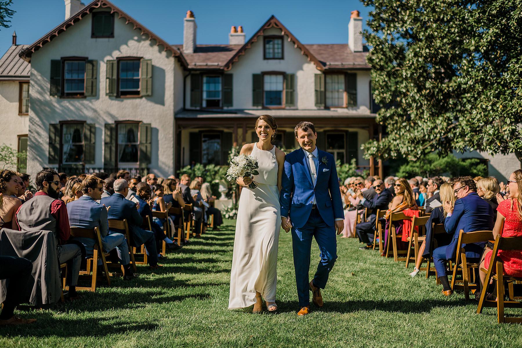 romantic wedding photo at lincolns cottage wedding by Washington DC Wedding Photographer Adam Mason