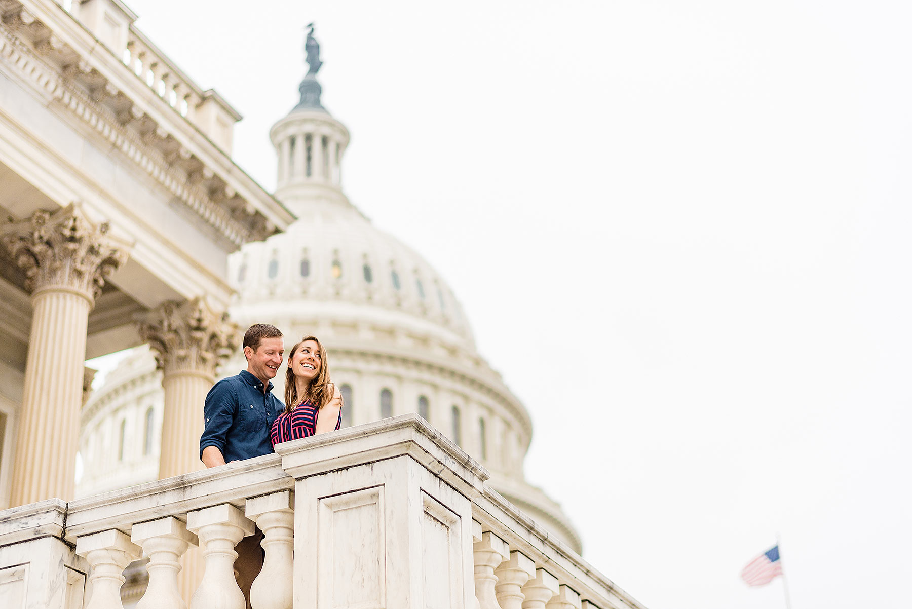 engagement photo at the capitol building