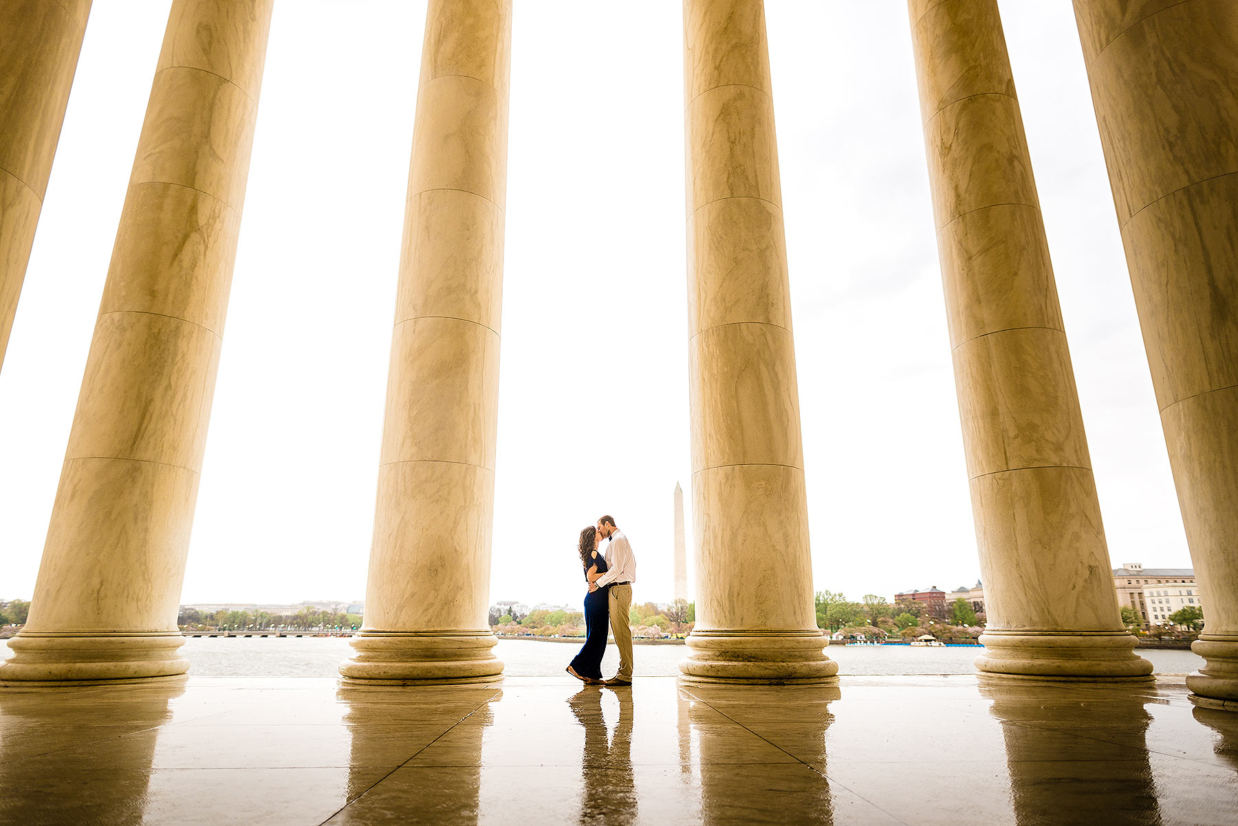 jefferson memorial engagement by Washington DC Wedding Photographer Adam Mason