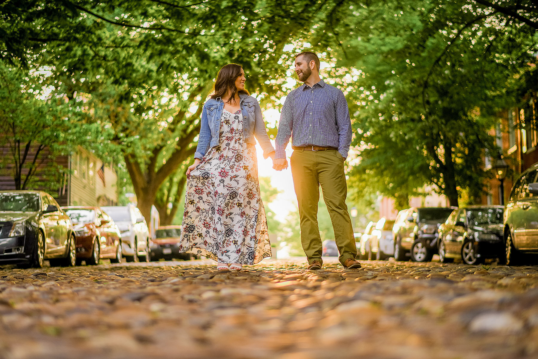 old town alexandria engagement photo