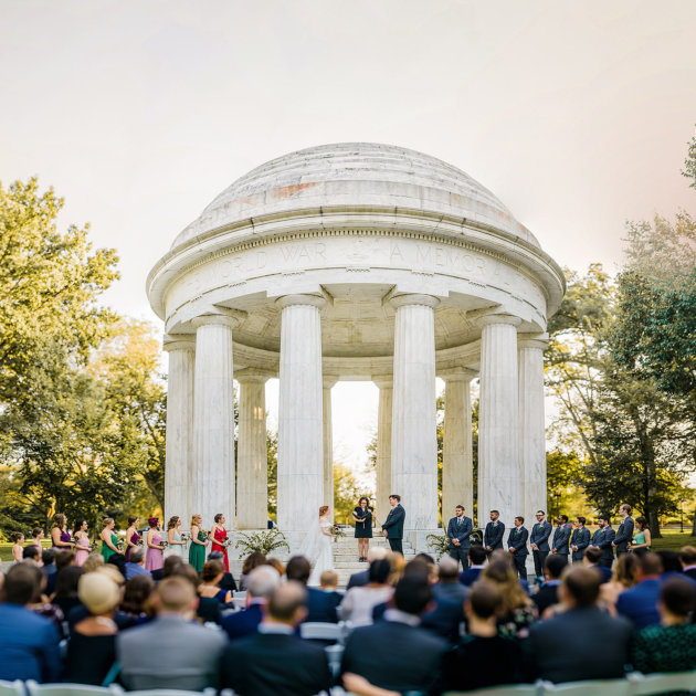 dc memorial wedding photos by Washington DC Wedding Photographer Adam Mason